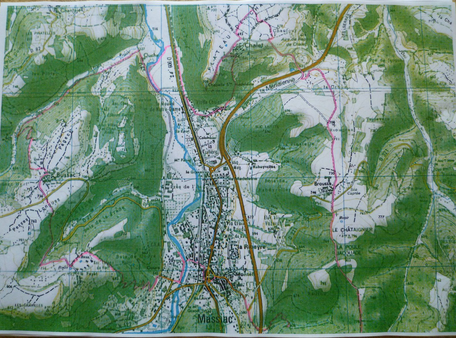 Massiac : parcours du trail des deux chapelles en 2019