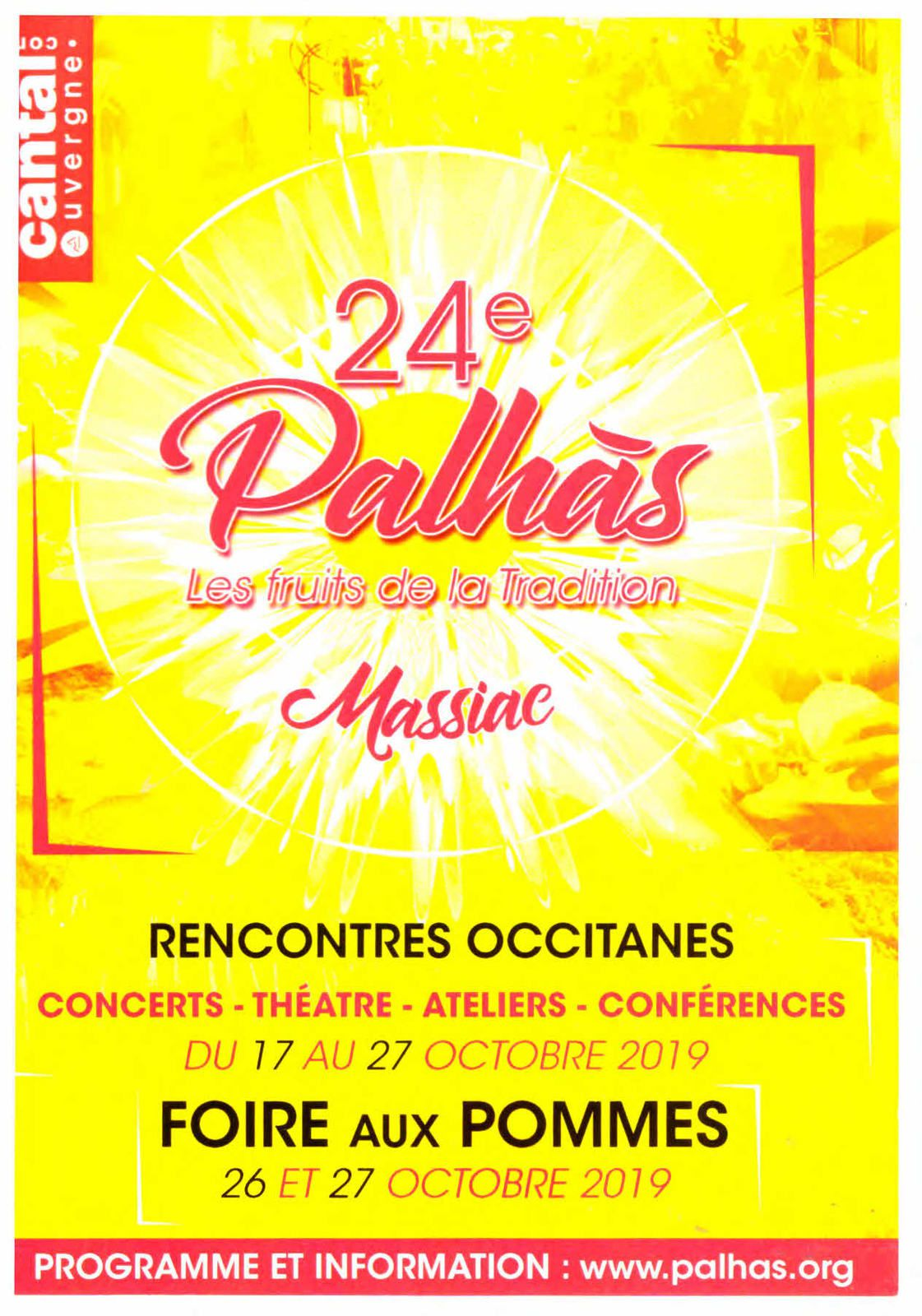 24 e Palhas les fruits de la tradition, 26 et 27 octobre