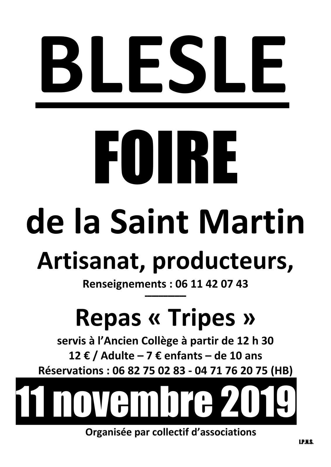 Blesle : foire de Saint Martin