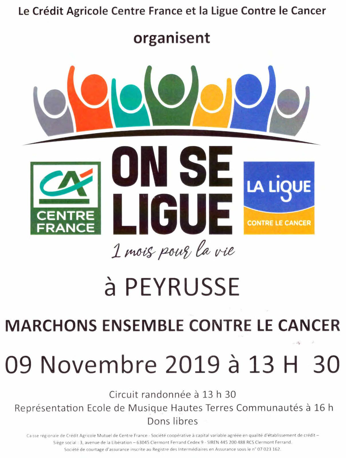 Peyrusse : marche contre le cancer