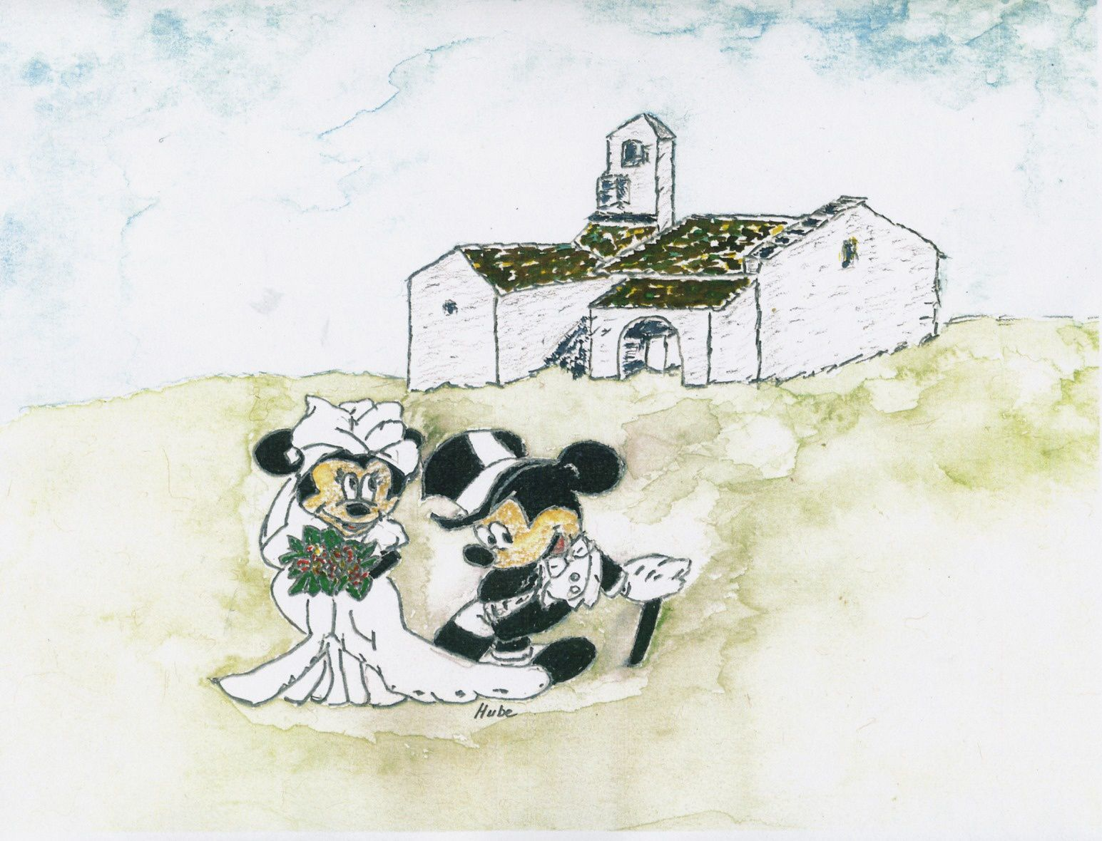 Mickey et ses amis visitent Massiac par Hubert Gomont