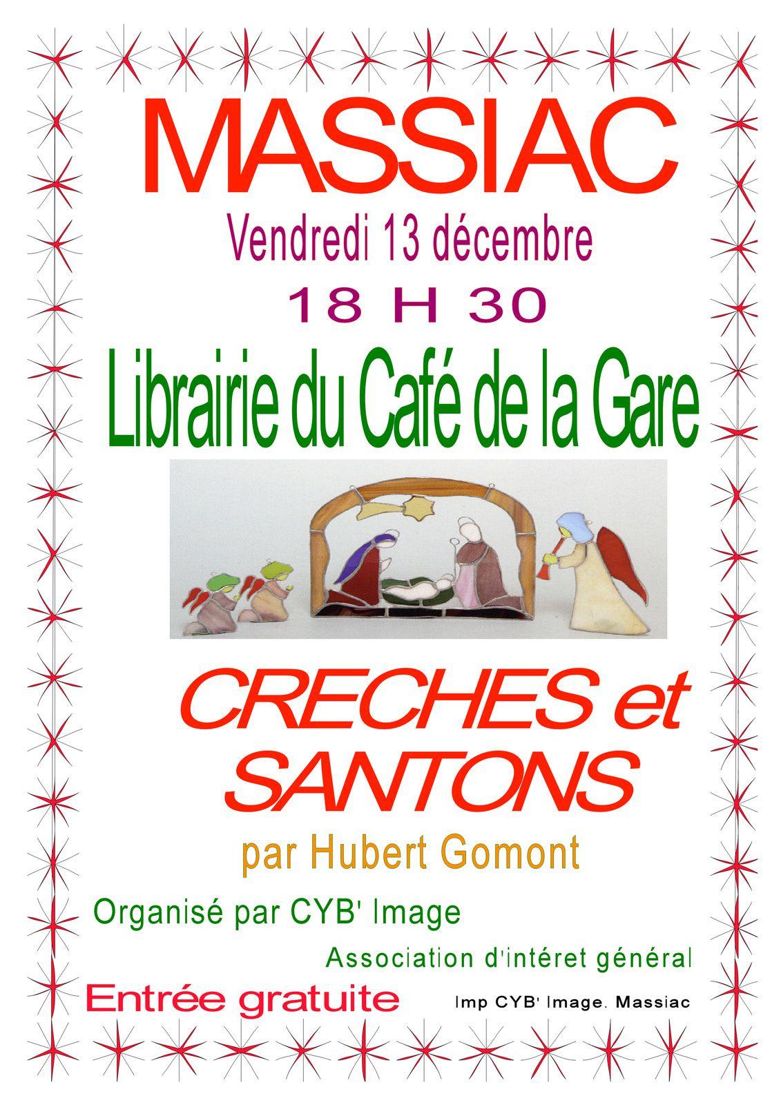 Massiac : Creches et Santons à la librairie café de la gare