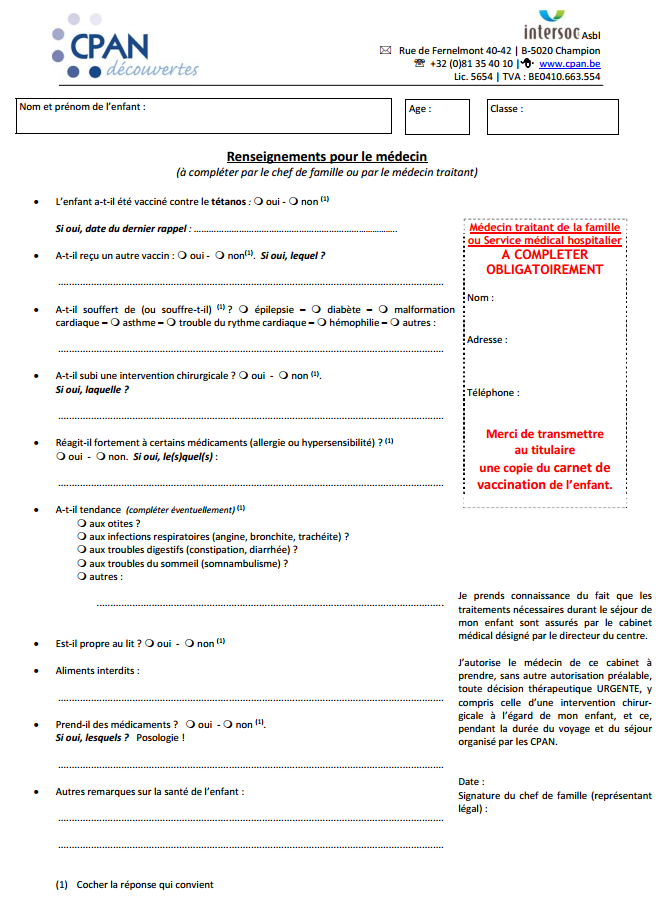 Documents importants reçus ce lundi 06/01