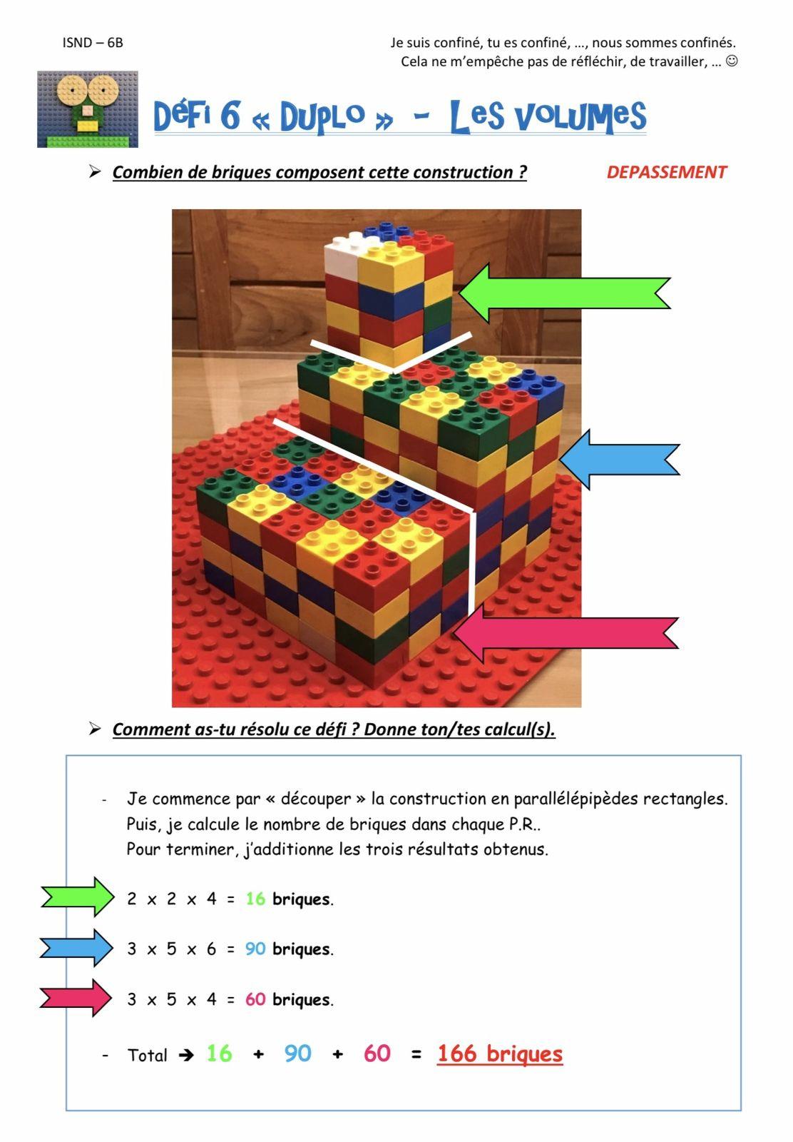 Défi LEGO ! (mise à jour - 17/04 - corrigés fiches 1 à 10)