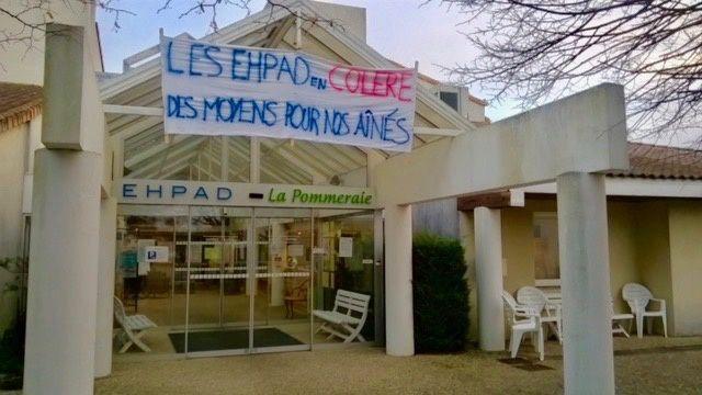 L'EHPAD de Périgny en grève pour lutter contre le manque de personnel qui perturbe la qualité du service.