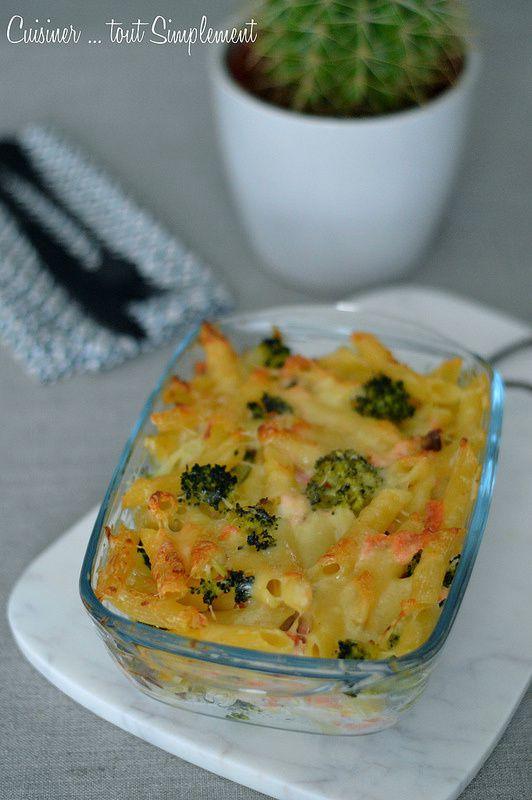 Gratin de pâtes Brocolis - Saumon