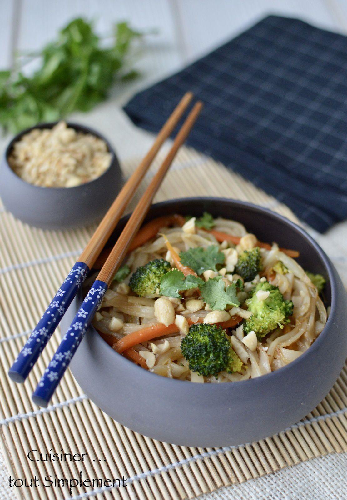 Nouilles de riz Sautées aux Légumes