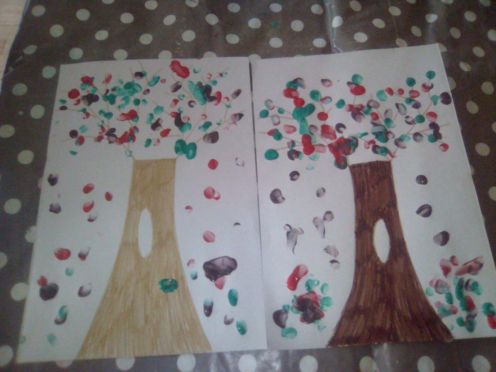 Et voilà les oeuvres de mes petits artistes peintres
