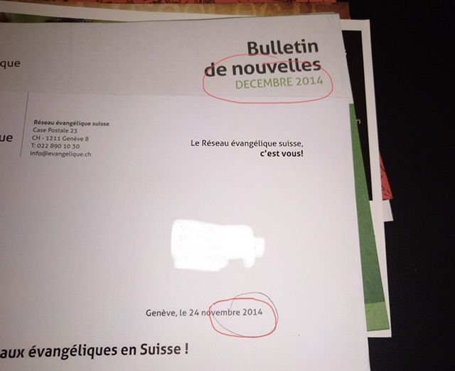 Le long chemin d'un courrier