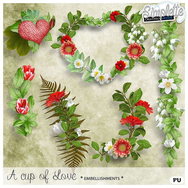 A cup of Love - kit et collection
