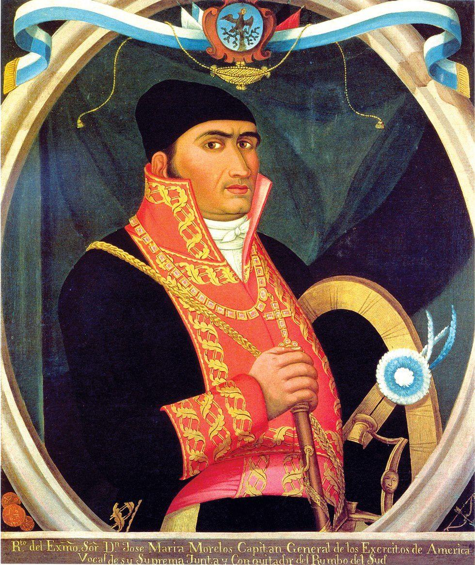 Morelos en uniforme de capitaine (photo empruntée à Wikipédia, c'est une peinture réalisée par un artiste anonyme)