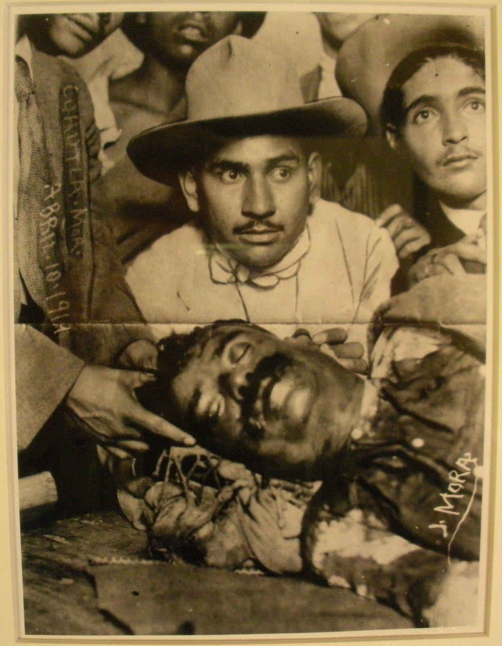 Au musée un des documents : la mort de Zapata. Une image poignante !