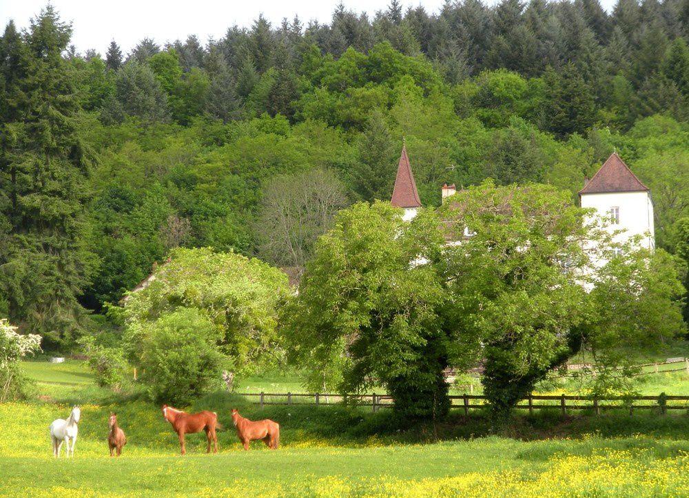 Surplombant de quelques mètres la vallée, le village de Sommant fait partie des sites accueillants du parc naturel du Morvan.