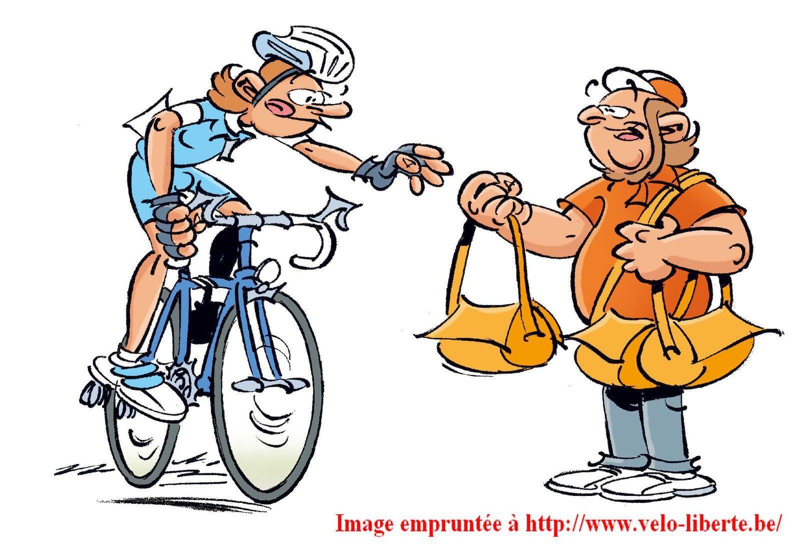 Le cycliste a droit à la musette...