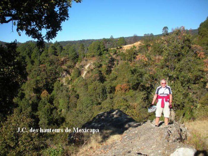 Suite en images de la montée à San José, commune d'Ocuilan, dans la montagne mexicaine