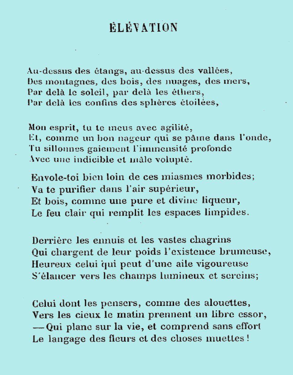 Élévation : elles sont tant d'actualité Les Fleurs du Mal (Las Flores del Mal) de C. Baudelaire par ces temps troublés...