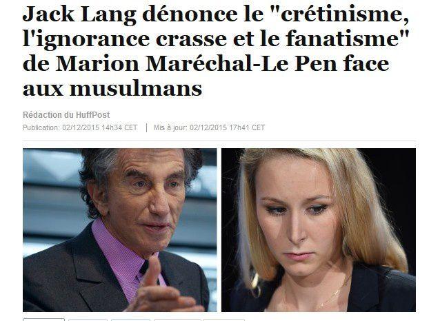 Face à la petite fille de Le Pen : Tu as raison, Jack !