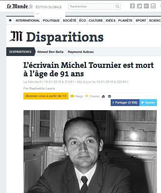 La série noire continue avec la mort de Michel Tournier