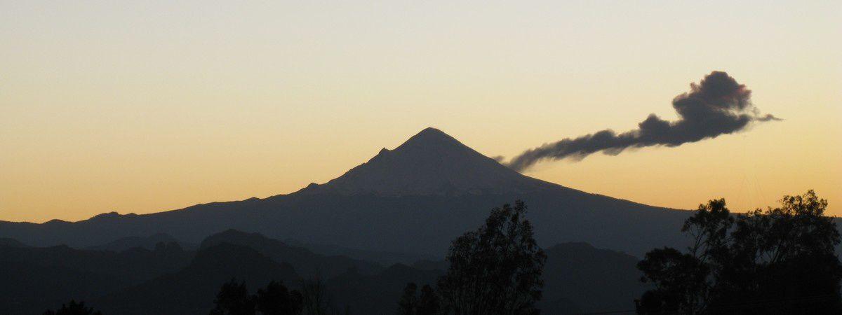 Photos inédites du Popocatepetl :  du Cenapred et de l'auteur de ce petit journal