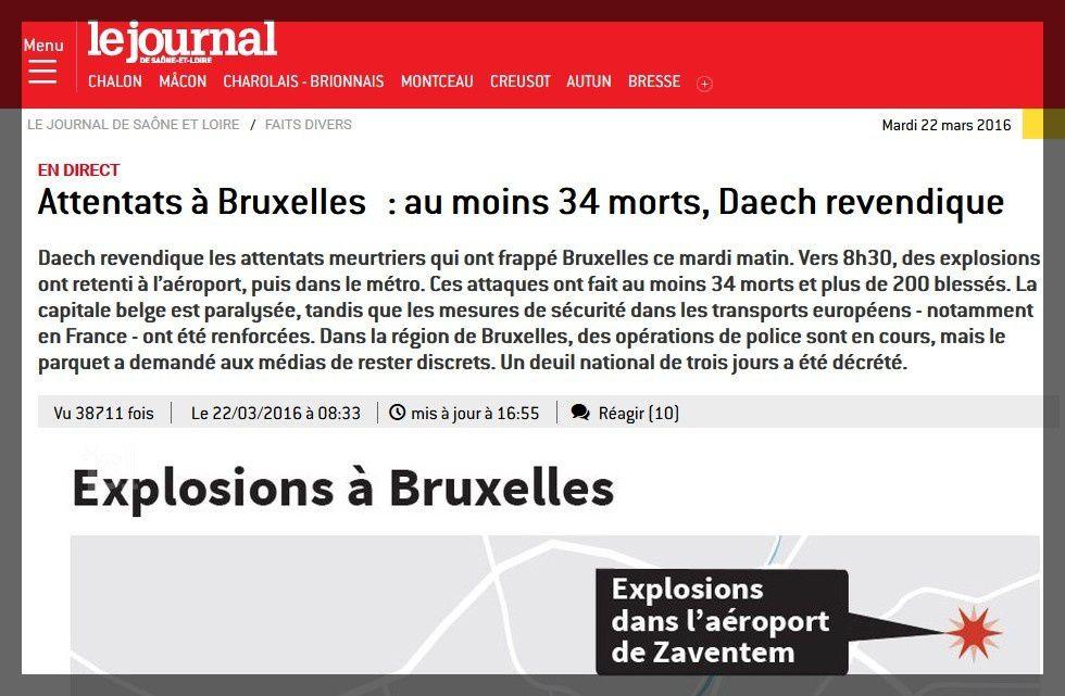 Attentats en Belgique : tous solidaires, tous unis contre la terreur aveugle