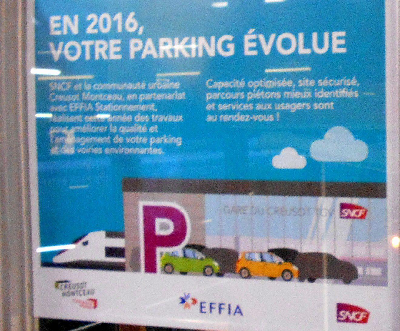 Ils osent appeler ça UNE ÉVOLUTION DES MODALITÉS DE GESTION : le parking payant de la gare TGV