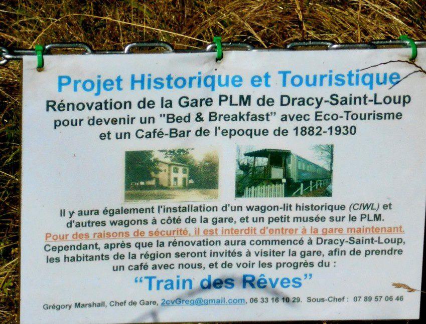 Un projet de rêve : vers la réhabilitation de la gare PLM de Dracy-Saint-Loup