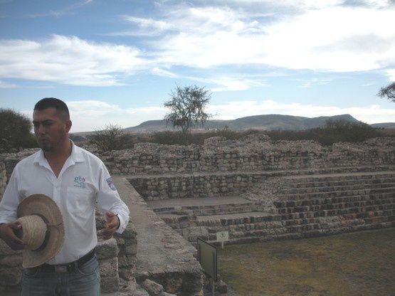 Le site préhispanique Cañada de la Virgen au coeur d'un semi-désert près de San Miguel Allende