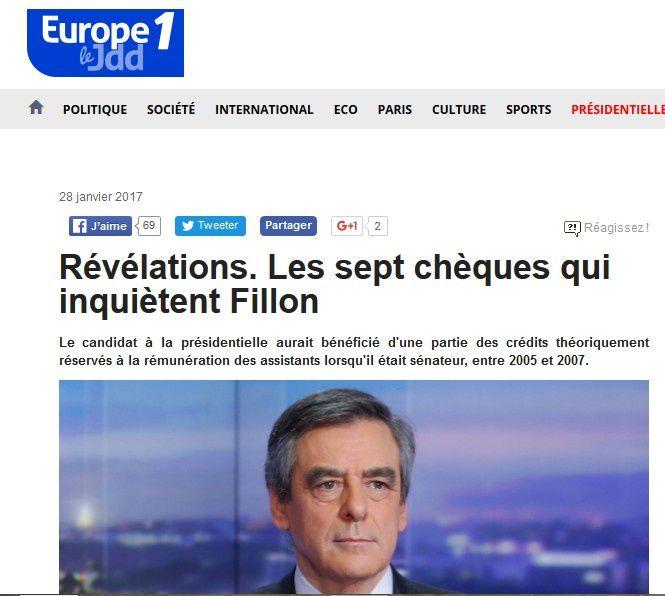 Une nouvelle affaire Fillon...