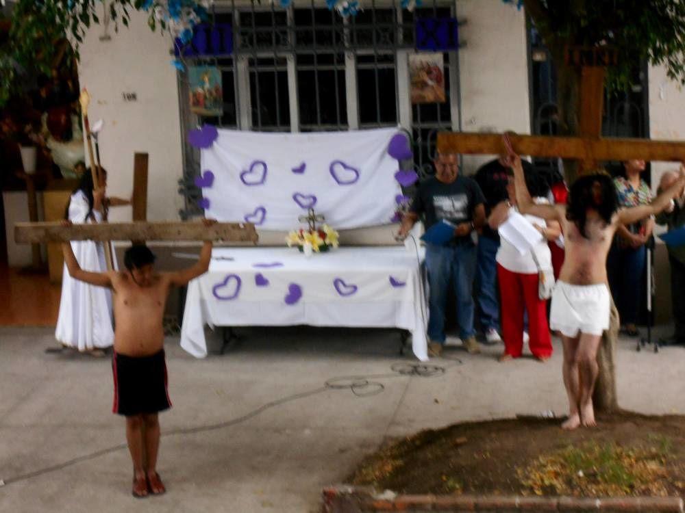 La Passion dans la rue, le Vendredi saint, en la ciudad de  Mexico