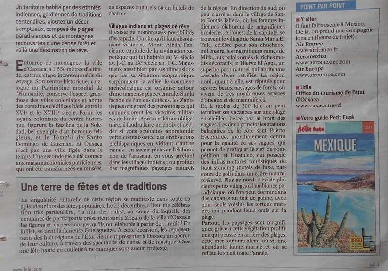 Oaxaca dans le Journal de Saône et Loire !