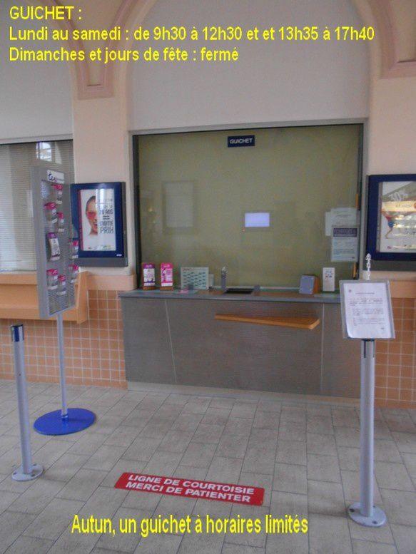 La jolie gare SNCF d'Autun témoigne d'une autre époque