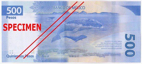 Sauvegarde des baleines sur les billets de banque mexicains