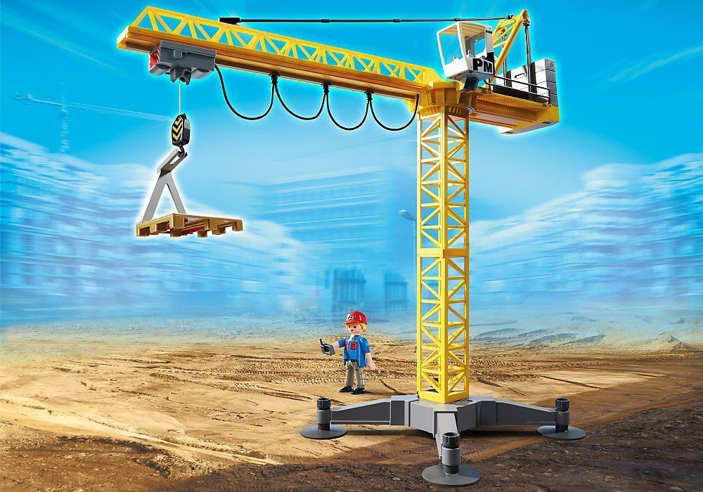 Grue de chantier Playmobil