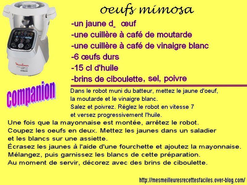 Oeufs mimosa avec le companion moulinex