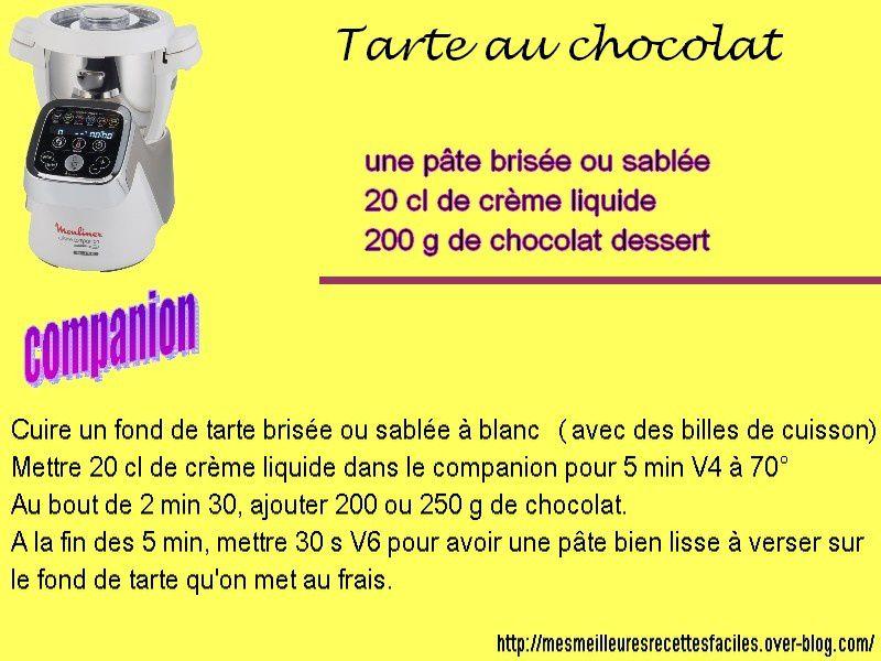 Tarte au chocolat au companion