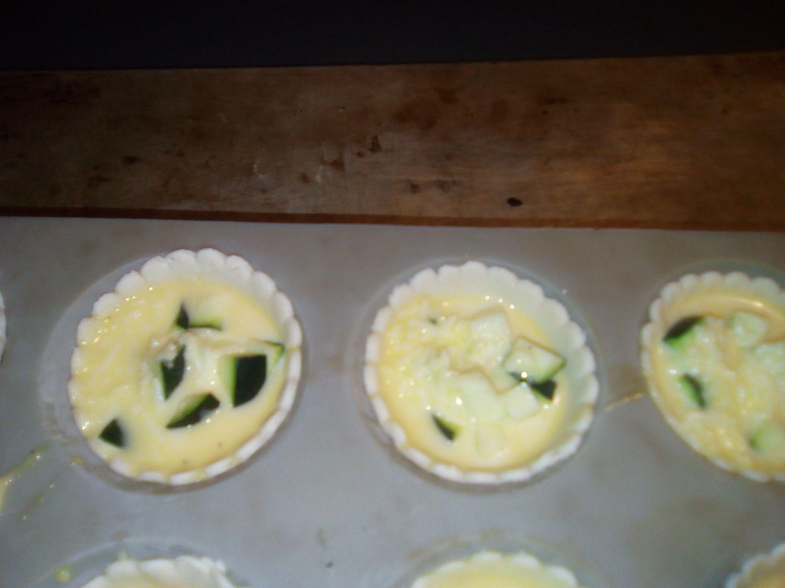 Mini quiches à la courgettes à la pasta maker