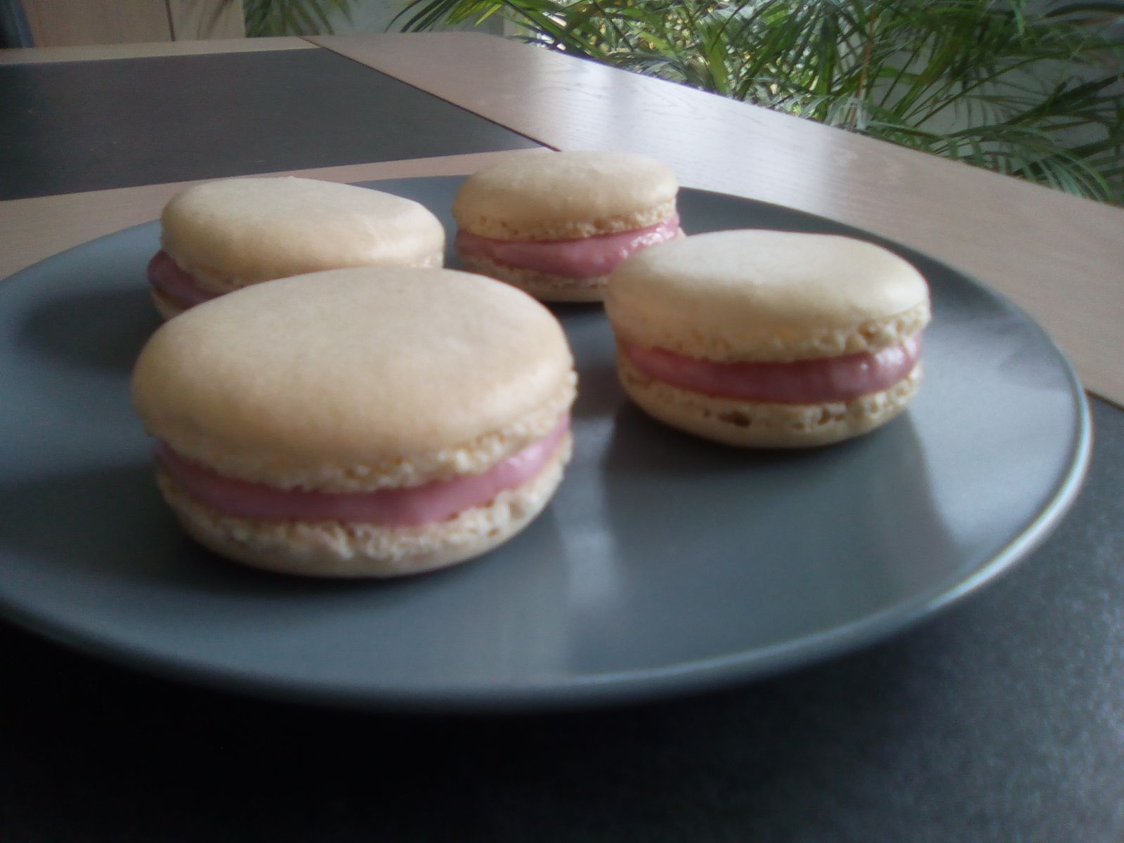 Macarons fruits rouges fromage frais