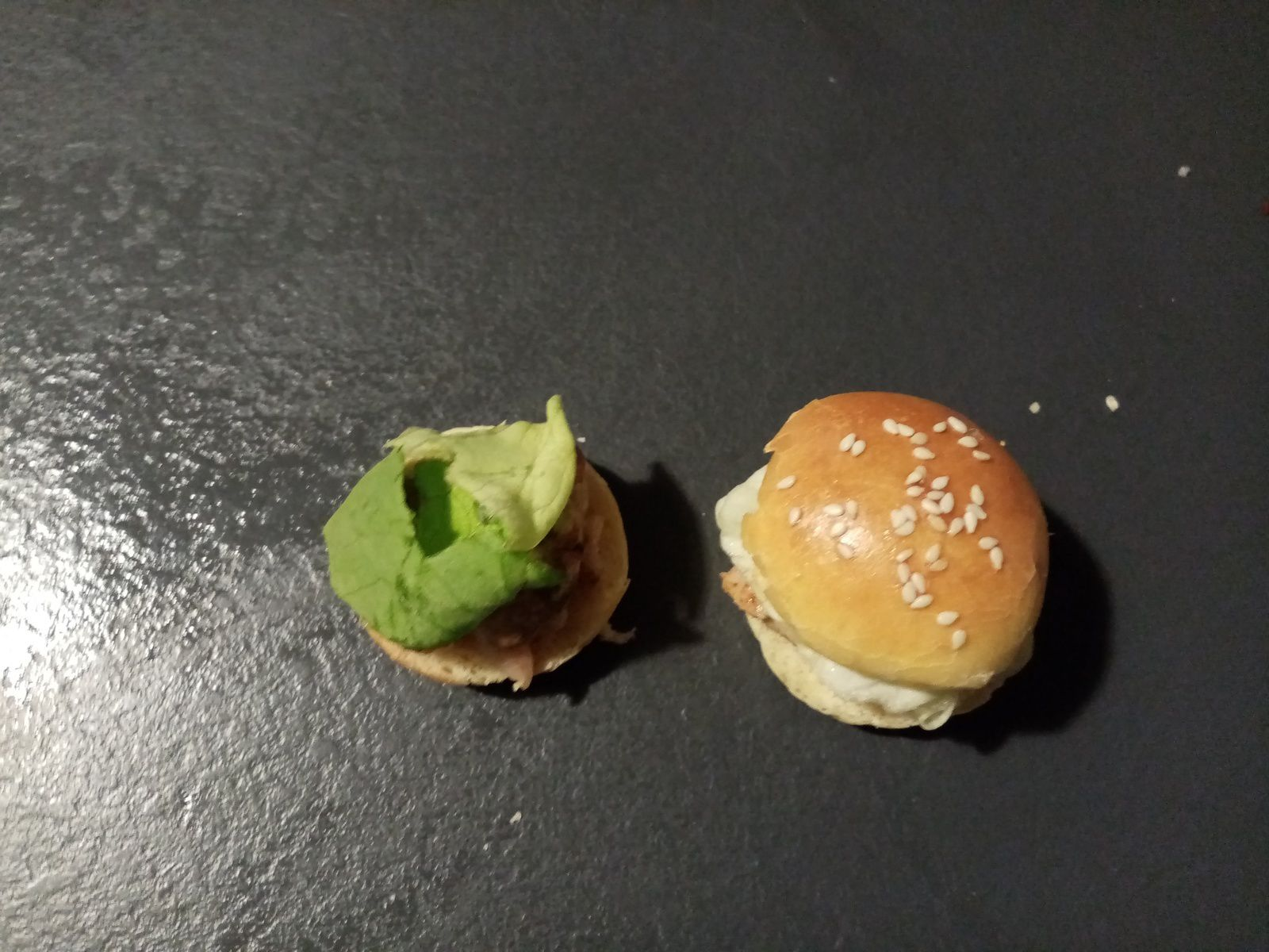 Mini burger à l'andouille