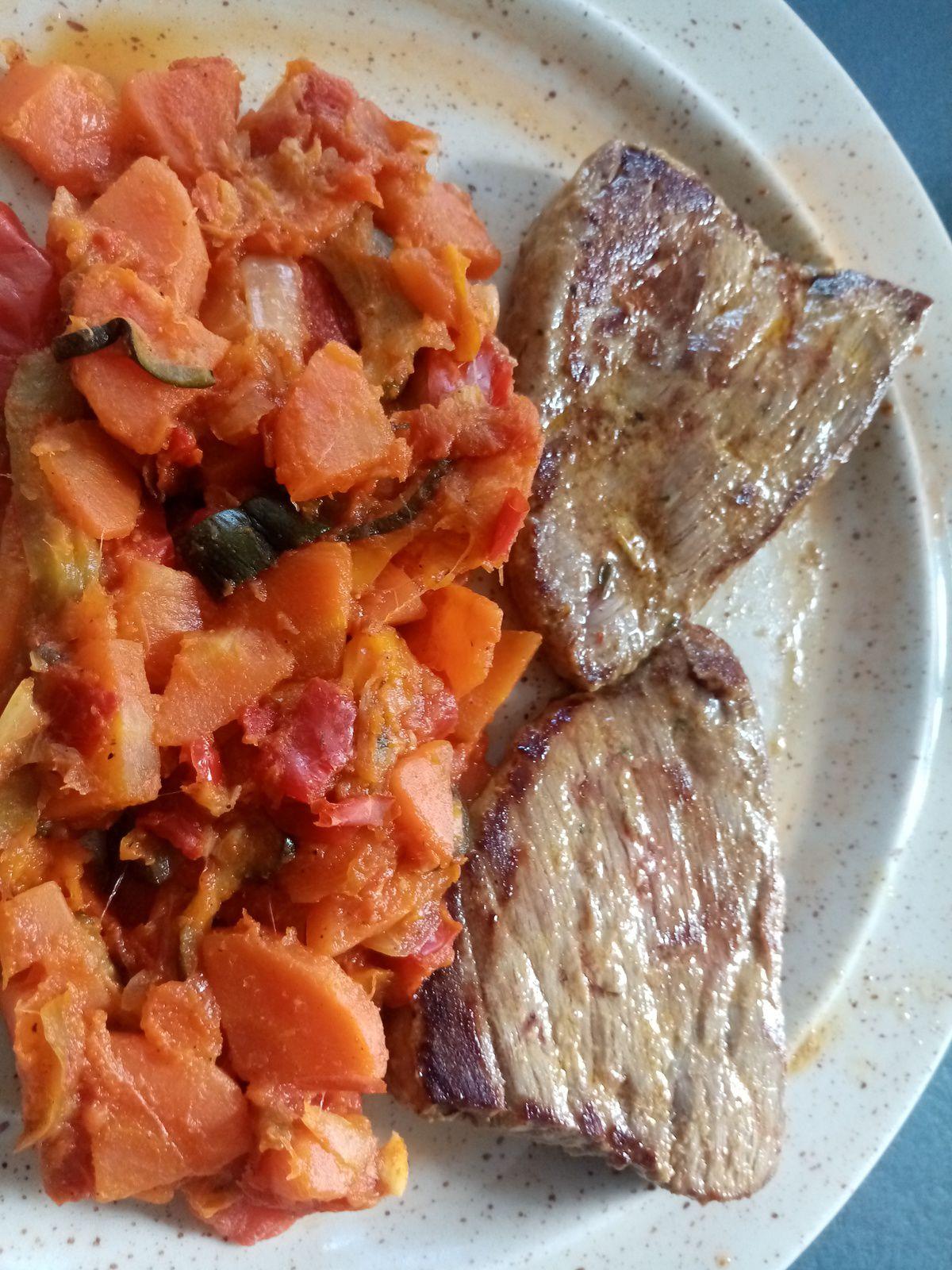 Salade de boeuf mariné de Cyril Lignac dans tous en cuisine