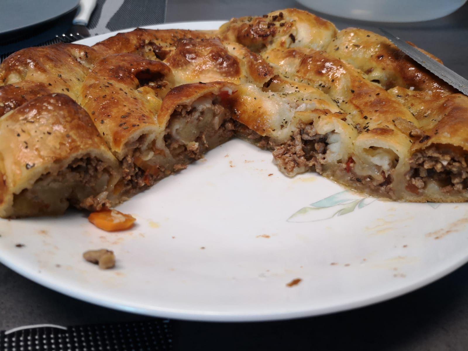 Pizza roulée bolognaise de Cyril Lignac dans tous en cuisine