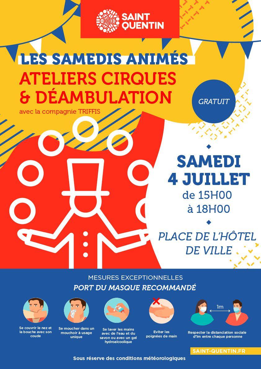 Ateliers cirque et déambulation à Saint-Quentin ce samedi 4