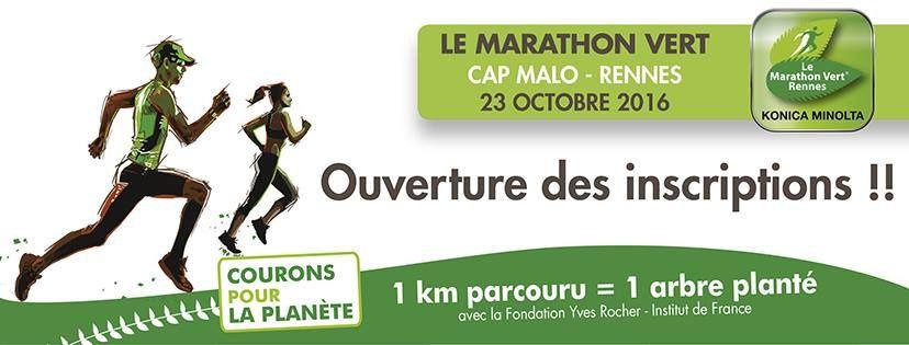 Gagner votre dossard pour le marathon vert de Rennes