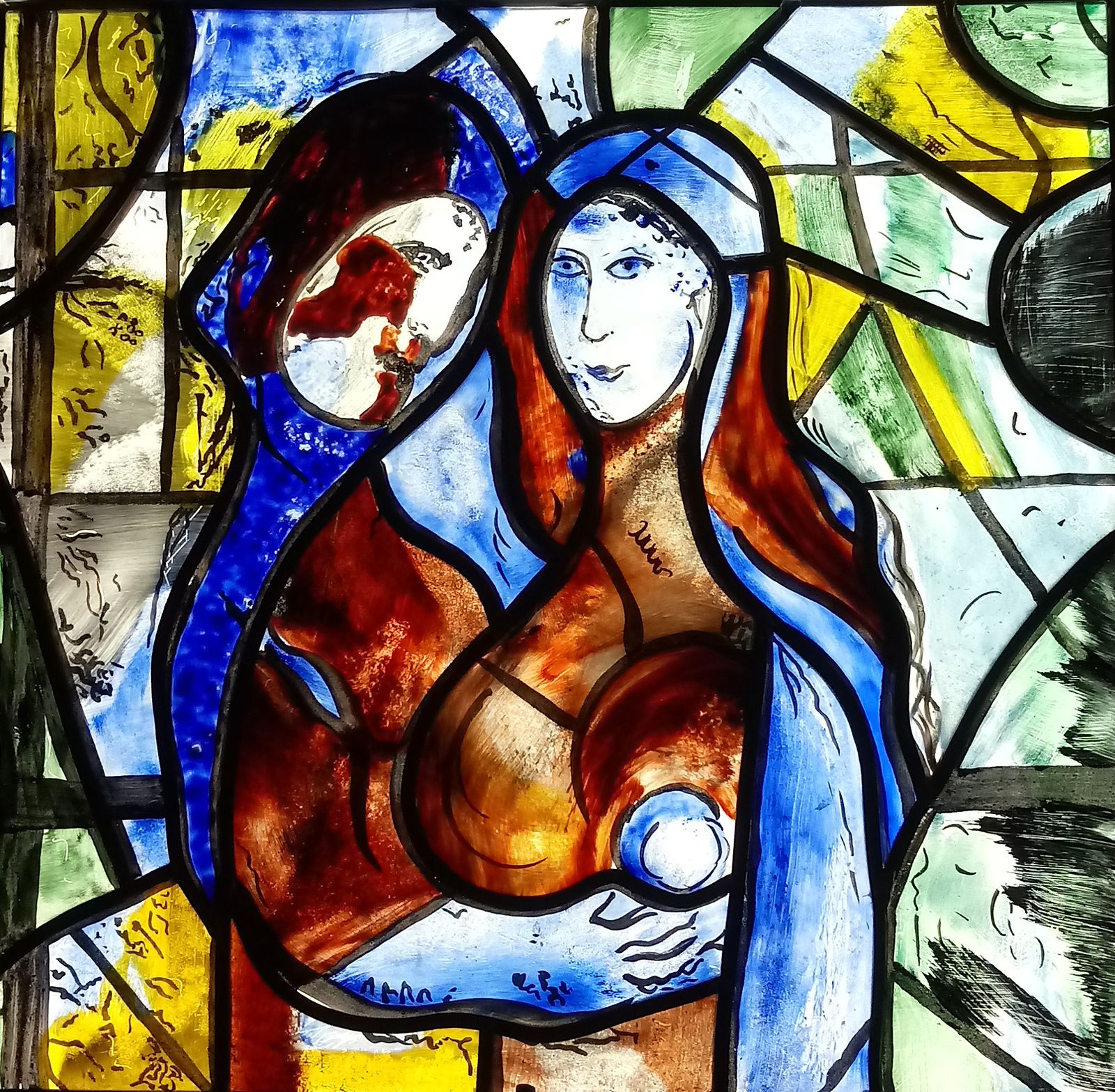 """""""l'Arbre de Vie"""" Reproduction extrait du couple primordial de Chagall réalisé bernadettesoufflet.com"""