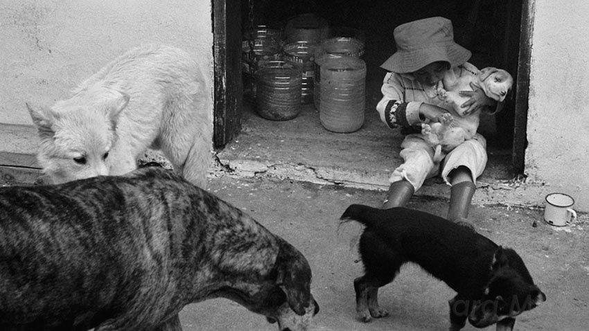 Fillette & chien, Equateur-Ecuador, 2005 © Barbara Mai