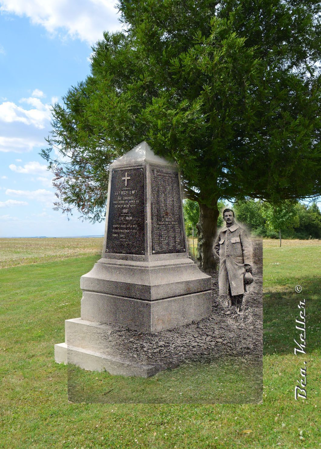 Souain 28e Brigade-Ferme des Wacques - Monument au 44e R.I.