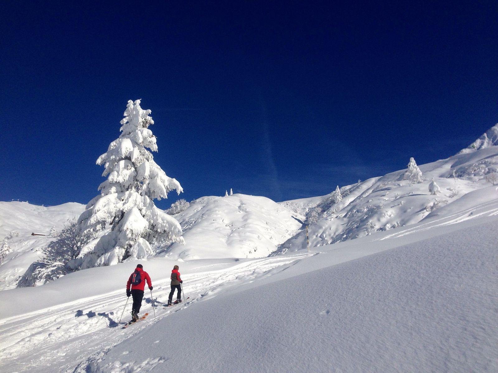 ski de randonnée dans le massif du Mont Blanc