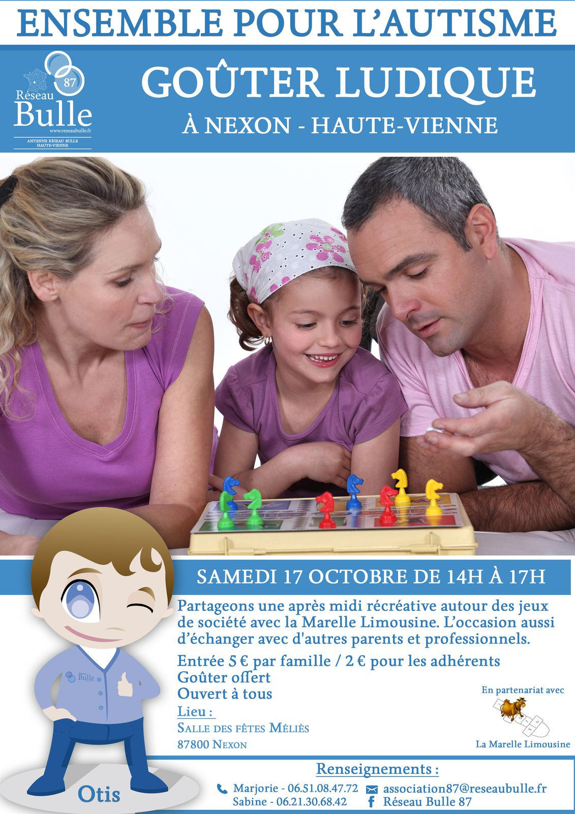 Samedi 17 Octobre à Nexon de 14h à 17h. Entrée 5€ / famille