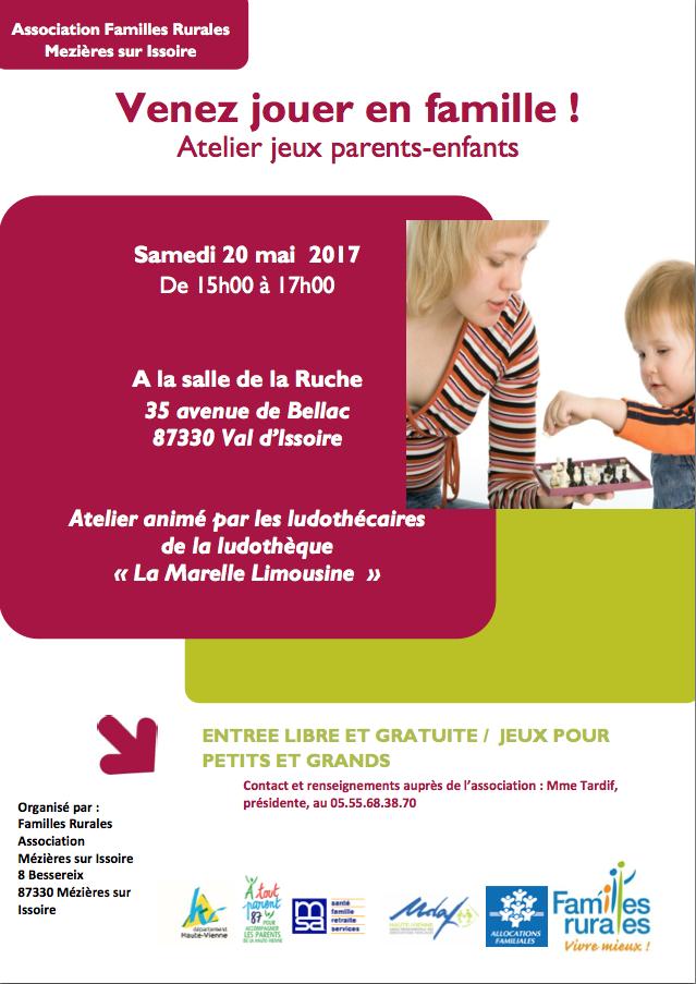 Samedi 20 Mai nous serons à Mézières sur Issoire avec Famille Rurales