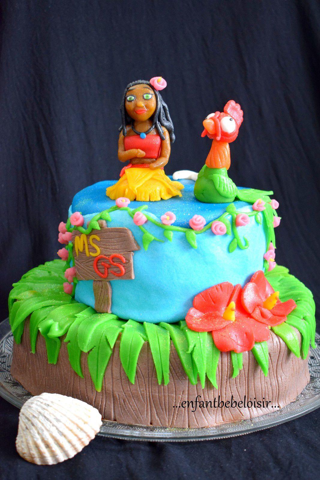 Gâteau Vaiana - Moana Cake - Pâte d'amande