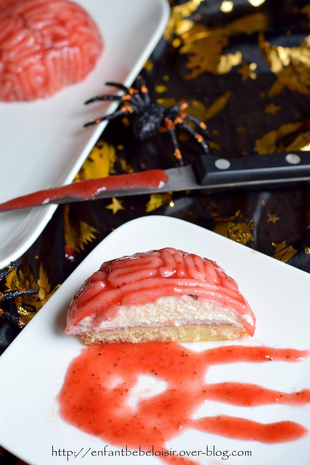Recettes Halloween - le cerveau à la fraise